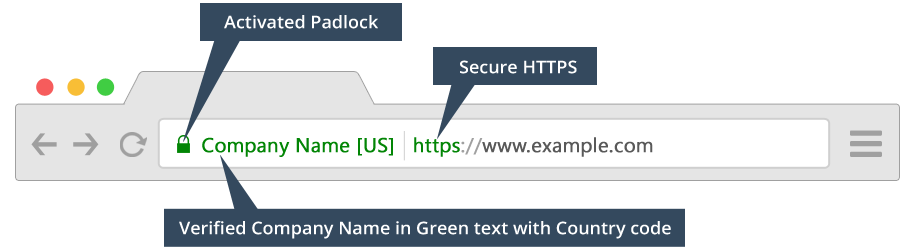 EV Certificate example